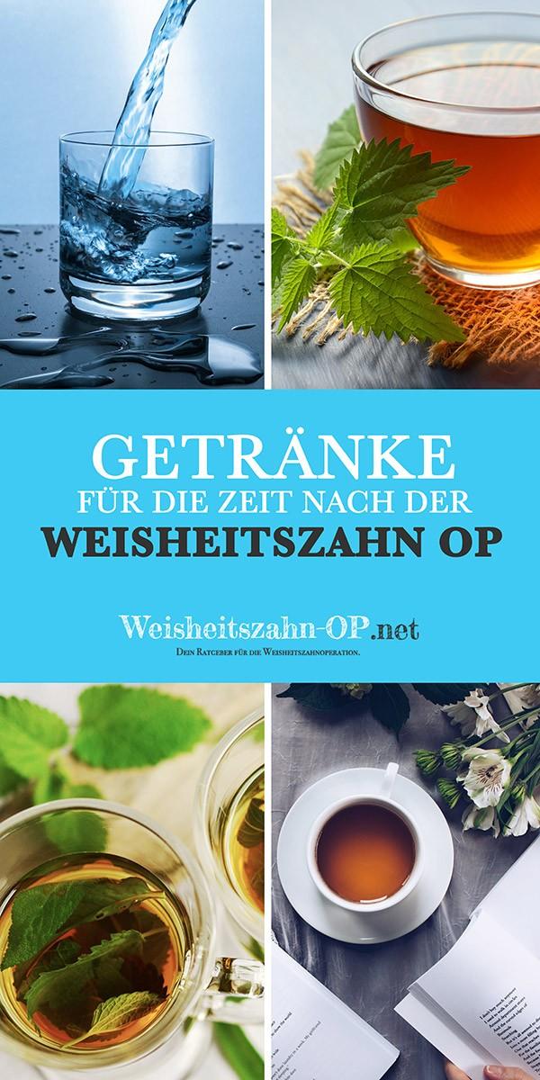 Trinken nach Weisheitszahn OP - Getränke?