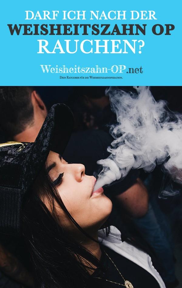 Rauchen nach Weisheitszahn OP - Weisheitszähne Zigarette